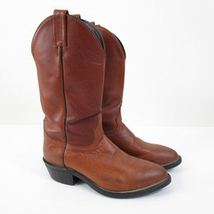 Tony Lama Red Brown Dominion Leather Cowboy Boots